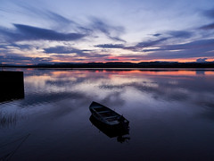 tiver tay calm-7280769 (E.........'s Diary) Tags: eddie rossolympusomdem5markiiscotlandjuly2016 sunset river tay calm reflection boats