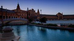 La Plaza de Espana (jsvamm) Tags: ifttt 500px sevilla seville spain andalusia espaa andalucia architecture europe building water sky sunrise dawn day break blue la plaza de espana