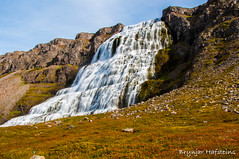 Dynjandi (Brynjar Hafsteins) Tags: waterfall mountain grass water iceland europe outdoor nature landscape dynjandi sky clouds nikon d5000