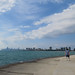 Chicago skyline, extreme wide-angle