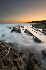 Erromardie (Herv D.) Tags: erromardie plage beach playa rocks rochers flyschs sunriseleverdesoleil poselongue longexposure atlantic atlantique coast pays basque country france