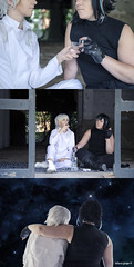 Starfighter (Stefania_Ginger) Tags: starfighter cosplay shooting black girl italy white love couple model photoshop
