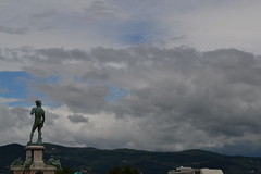 Firenze (frederik89) Tags: firenze statua michelangelo toscana florence skyline sky nuvole clouds