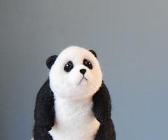 needle felted panda bear (willane) Tags: needlefeltepanda giantpanda willane needlecraft needlefeltedanimal felting feltcraft