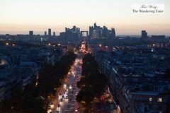 Looking toward La Defense from Arc de Triomphe (thewanderingeater) Tags: paris france arcdetriomphe landmark