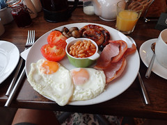 e ferndene full english breakfast (Simon -n- Kathy) Tags: keswick england lakedistrict lakelands hike rain walk castlerigg