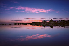 Sunset Blush [Explored] (Langstone Joe) Tags: boshamharbour bosham westsussex seascape sunset village church landscape reflections yachts bluehour
