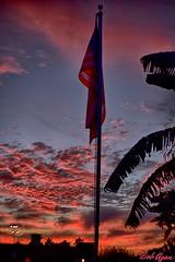 005_HDR (seabrookbob56) Tags: flag sky sunset