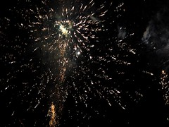 Fireworks 2014 (Rebecca Jay Thorne) Tags: lines yellow gold golden aftermath fireworks explosion streams streaks bang starburst 2014