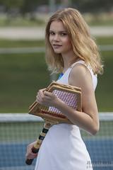 Tennis model in Naperville (JeffreyRoss) Tags: portrait chicago senior girl sport female model tennis teen blond tall athlete naperville jeffreyross