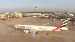 Emirates Boeing 777 A6-ENV Aeroflot Airbus A320 VQ-BSE Dusseldorf Airport Webcam capture (AirportWebcams.net) Tags: germany webcam airport emirates airbus boeing dusseldorf capture 777 a320 aeroflot dus eddf vqbse a6env