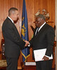 Presentation of Credentials by His Excellency Robert Morris High Commissioner-designate of Barbados