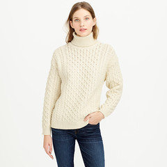 Blonde Womens J.CREW ARAN CRAFTS FISHERMAN CABLE KNIT TURTLENECK (Mytwist) Tags: irish woman sexy wool girl fashion lady sweater fisherman fuzzy crafts knit style cable jeans blonde jumper turtleneck aran jcrew sweatergirl tneck rollneck rollkragen rollerneck aranstyle turtlemeck
