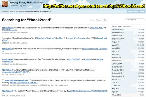 Books to Read (Twitter archive) by Wesle by Wesley Fryer, on Flickr