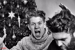 Yes !!! Its Christmas day !!!! (CJS*64 A man with a camera) Tags: christmas bw home monochrome mono blackwhite nikon yes joyful geo cjs nikkorlens 18105mmlens nikond3100 craigsunter cjs64