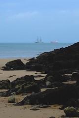 Pirates (Martin Berkeley) Tags: sea beach wales bay ship tanker lligwy dulas x100s