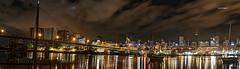 C H A R I S M A (Mark B. Imagery ) Tags: city bridge panorama cloud skyline night canon geotagged boats photography flickr sydney australia panoramic nsw cbd pyrmont whitebay anzacbridge centrepointtower canon5dmarkiii markbimagery