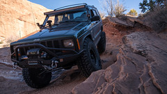 _DSC9484 (Powhusku) Tags: thanksgiving road park sky sport utah ut sand arch jeep offroad 4x4 hiking dunes arches things off trail revenge national moab 1998 cherokee delicate wheeling fins sanddunes petrified hells xj jeeping rated jcr trxus