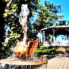 Fuente cisne (carvalsalinas) Tags: uploaded:by=flickrmobile colorvibefilter flickriosapp:filter=colorvibe