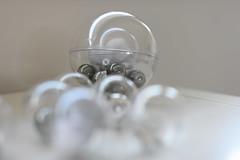 Christmas bubble - atana studio (Anthony SÉJOURNÉ) Tags: christmas light white silver studio star noel bubble anthony string blanc etoile argent boules guirlande sapin bois atana lumineuse séjourné