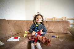Abdu finds his voice in Germany (UNHCR) Tags: family house girl germany children de europe child play refugees health syria hesse waechtersbach livingconditions medicalmedicine syrianrefugees humanitarianassistanceprogramme