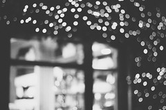 Christmassy Belgian streets (ose) Tags: christmas street city november light brussels blackandwhite white black love window shop night canon 50mm belgium bokeh canoneos550d