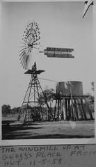 The windmill at Millview Tullibigeal (spelio) Tags: farm blue album 1958 bw box camera brownie historic old cornell prints copy 620 windmill alston fave