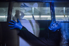 Inside out (picazam) Tags: street las vegas blue man bus window canon photography hands 5d mm 50 bir azam mkiii picazam