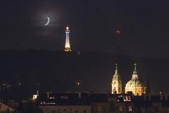 Prague night (EXPLORED 21.12.2014) (Lukas Kr.) Tags: moon night canon long exposure republic czech prague lukaskrasa