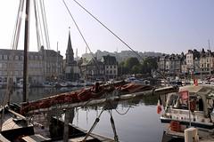 The Vieux Bassin (oxfordblues84) Tags: france building water architecture boats harbor europe harbour steeple honfleur oldport normandy muséedelamarine churchsteeple pleasureboats 5photosaday lowernormandy eglisesaintetienne honfleurharbour thevieuxbassin