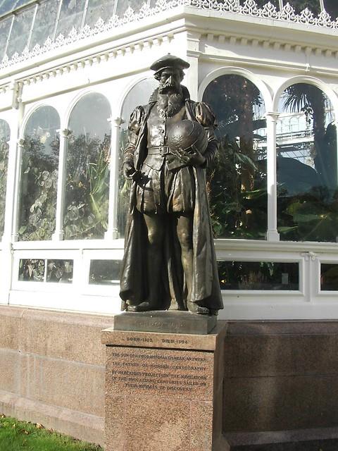 Liverpool. Sefton Park. Statue of GERARDUS MERCATOR.