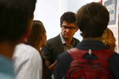 Liam Dann shows TGS around the NZ Herald (Auckland, New Zealand) (THINKGlobalSchool) Tags: newzealand auckland newsroom journalism classes humanities nzherald lclark worldliterature wexplore