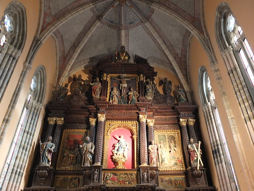 Iglesia de Santa María - Parte superior del retablo mayor