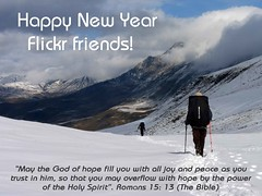 ... and onwards into 2015 - Happy New year friends!!! (Keith Kingston) Tags: new winter cloud mountain snow france alps ice trek french happy path year 15 keith hike kingston backpack bible inspirational 13 parc col romans decrins 2015 multiday darsine