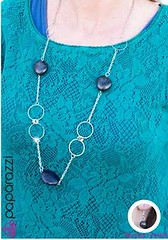 5th Avenue Black Necklace K1 P2110-1