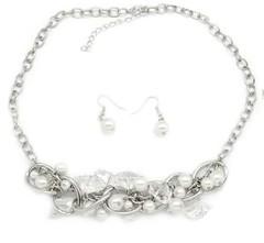 5th Avenue White Necklace P2620-1