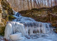 It was cold at Raven Run Today (Karen&Guy) Tags: ice frozen kentucky ky falls waterfalls ravenrun fayettecounty