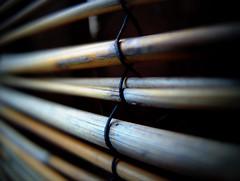 bamboo curtain (Hebetheclick) Tags: macro metal bamboo fujifilm x10 mdpd 201505