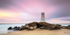 Redhead Shark Tower (Kiall Frost) Tags: longexposure red beach sunrise sand nikon rocks redhead le pastels newcastleaustralia sharktower kiallfrost