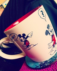 Mickey Mouse mug! (Elysia in Wonderland) Tags: red white cup coffee look mouse drawing disney mickey mug animation grandads