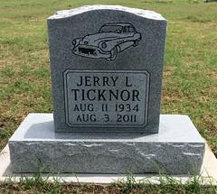 Ticknor Headstone (eloisedv) Tags: oklahoma cemetery headstone gravemarker cartercounty lonegrove