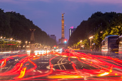 Berlin at night (alxfink) Tags: street berlin monument night lights siegessule