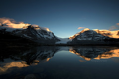 Waking Beauty !!!! (Photography by Ramin) Tags: morning canada mountains reflection beauty sunrise rockies rocky columbia waking icefield the