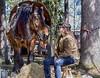 Euro och Nina (G Er Foto) Tags: horse factory euro drafthorse häst ardenner marknad rättviksmarknad söderströmshästochnatur