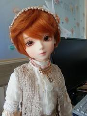 Taylor at Work (almyki) Tags: boy fashion ball asian doll skin body 14 mini fairy tiny amaryllis bjd normal emilie luts mori bf abjd joint msd tf bluefairy makoeyes