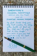 Sheaffer Snorkel Saratoga (kitchener.lord) Tags: ink snorkel saratoga pens stationery nib sheaffer rhodia 2016 diamine xf27 havasuturquoise