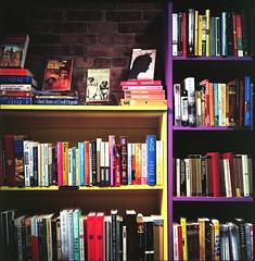 Open Books (H_H_Photography) Tags: rolleiflex rollei tlr mediumformat mf books bookstore shelf stillife good excellent analog film ektar kodakektar