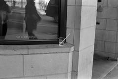 NO LOITERING (beccachairin) Tags: blackandwhite bw slr cup 35mm pentax kodak trix cups drinks analogue 50mmlens