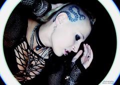 untitled (dieter michalek) Tags: tattooedgirl tattoo girl piercing woman femme strange punk portrait canon