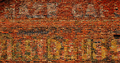Mosaic (studioferullo) Tags: street old city arizona white abstract brick art classic texture beauty sign yellow wall architecture contrast painting advertising outdoors design town big high colorful downtown pretty pattern bright outdoor decay text sunny historic bisbee